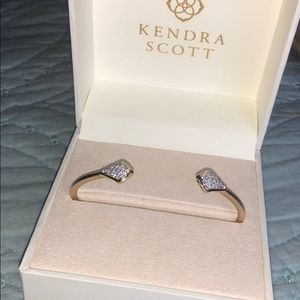 Kendra Scott Bracelet Pave Diamond 14k Yellow Gold